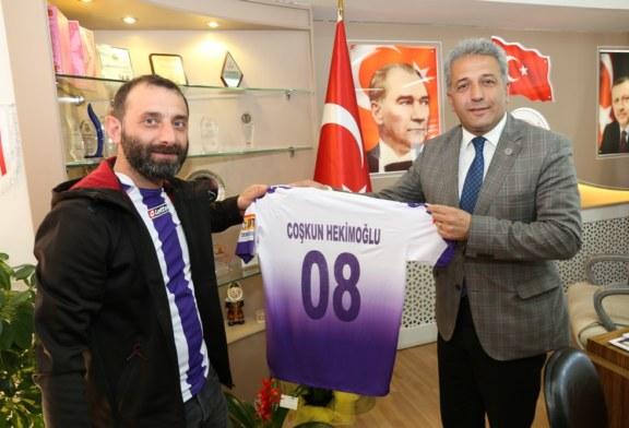 A.Hopaspor Taraftar Grubundan Başkan Hekimoğlu'na Ziyaret