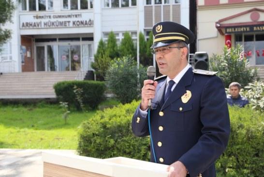 Arhavi'de Türk Polis Teşkilatının 173. Kuruluş Yıl Dönümü Törenle Kutlandı