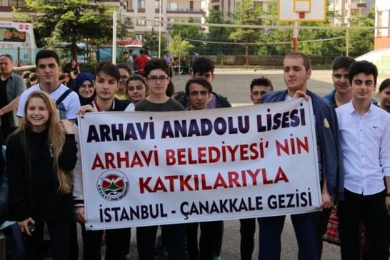 Arhavi Anadolu Lisesi Öğrencileri Çanakkale Ve İstanbul Gezisi İçin Yola Çıktı