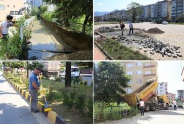 Arhavi Belediyesi Şehir İçi Modernizasyon Çalışmalarına Devam Ediyor