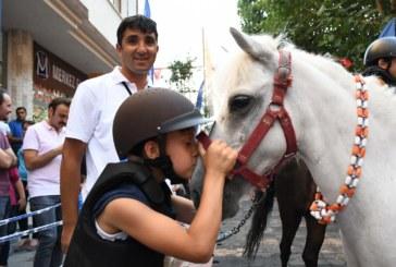 Çocuklardan Pony Cinsi Atlara Yoğun İlgi