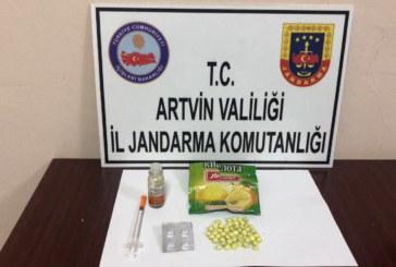 ARTVİN'DE JANDARMADAN UYUŞTURUCU OPERASYONU