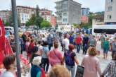 ARDEŞEN'DE DENİZ KAFESLİ BALIK ÇİFTLİĞİ ÇED TOPLANTISI HORONLA PROTESTO EDİLDİ